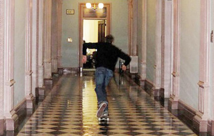 tony hawk skating the white house